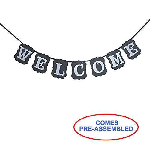 Welcome Vintage Party Banner Wedding Birthday Bunting House Home Classroom Decorations Garland Photo Props Back to School Party Supplies]()