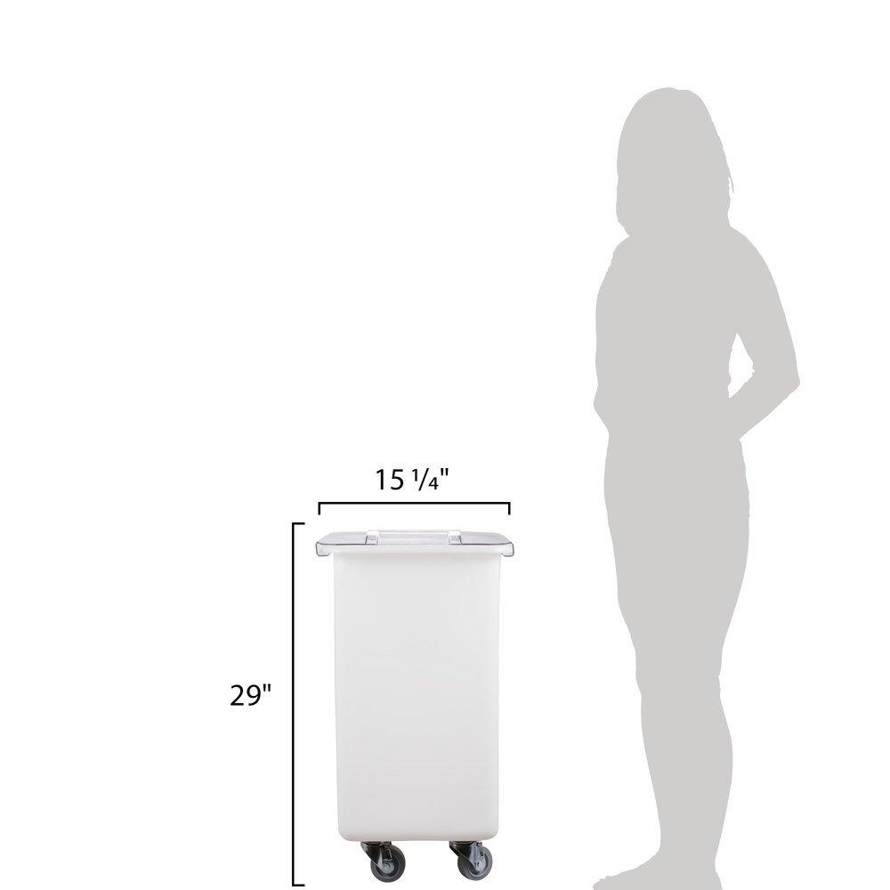 TableTop King IB36148 34 Gallon Mobile Flat Top Ingredient Bin