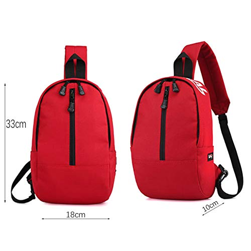 Defeng Men and Cross Pouch Backpacks Canvas Lightweight Red Multipurpose Chest Women Daypacks Sport Shoulder Bag for body 1OUw1x