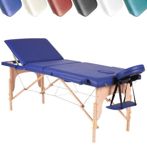 Massageliege Massagetisch Massagebank inkl. Tragetasche, Kopfstütze und Armlehnen Behandlungsliege in verschiedenen Farben