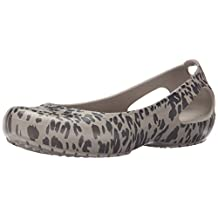 crocs Women's Kadee Animal Print W Flat
