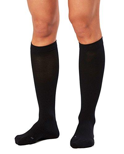2XU Women's Performance Compression Run Sock, Black/Black, X-Small by 2XU (Image #3)