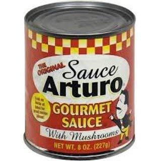 Arturo Original Gourmet Sauce with Mushrooms, (8 Oz) Cans (6)