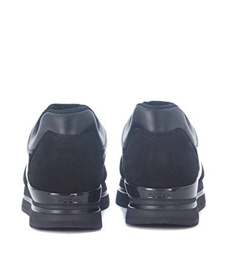 H222 Suède Noir en Hogan Basket micropaillettes 6HzwS