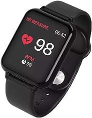 Relógio Inteligente Smart Watch B57 Hero Band 3 Monitor Cardíaco Monitor Sono Pressão Sangue iOS Android (Preto)