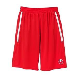 Pantalones cortos de fútbol uhlsport rojo/blanco, talla: XS;Color: rojo/blanco