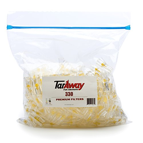 (Taraway Cigarette Filters | Food Grade Disposable Plastic Filter Tips - Pack of 330 Filter Cartridges)