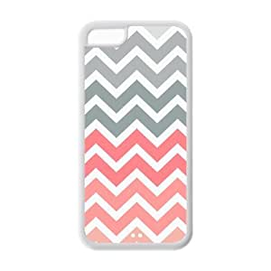 MMZ DIY PHONE CASEiphone 6 4.7 inch Case - Popular Pink Fade Chevron Zigzag Apple iphone 6 4.7 inch (Cheap IPhone 5) Waterproof TPU Back Cases Covers