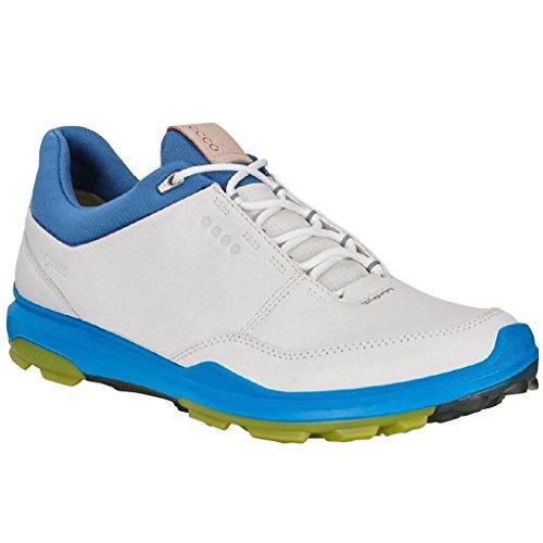 ECCO Biom Hybrid 3 GTX Spikeless Golf Shoes 2018 White/Kiwi Medium 44 (US 11)