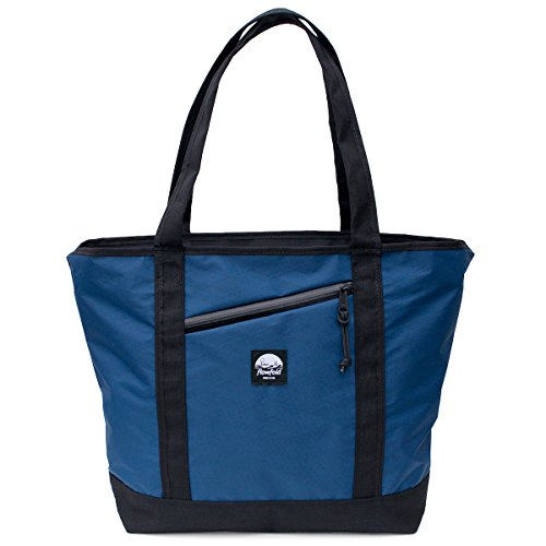 Flowfold Zip Porter Zipper Tote - Minimalist 16L Tote Bag - Ultra Lightweight Outdoor Bag - Navy Blue - Made in USA made in New England