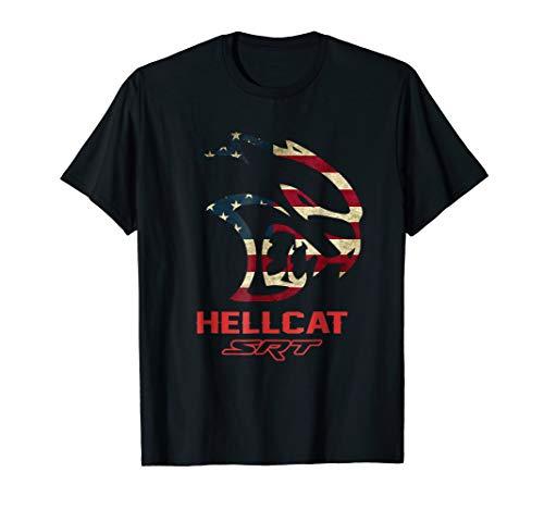 Hell cat SRT Dodge T Shirt Vintage Flag US for men women kid