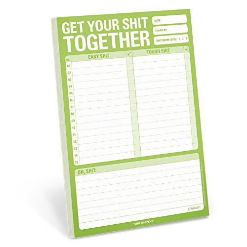 Knock Knock Get Your Shit Together Note Pad