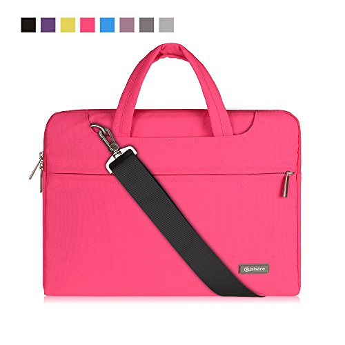 Qishare-116-12-Pink-Multi-functional-Business-Briefcase-SleeveMessenger-Case-with-Handle-and-Carrying-Strap-for-Acer-Asus-Dell-Fujitsu-Lenovo-Hp-Samsung-Sony-Pink-116-12