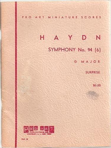 Symphony No. 94 (6), G Major, Surprise (Pro Art Miniature