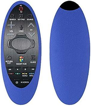 Funda Protectora de Silicona Compatible con Samsung TV Remote Control Set BN94-07557A 07469 UA55H6400J, Kids-Friendly Anti-Slip Shockproof Anti-Lost Samsung TV Remote Control Azul: Amazon.es: Electrónica