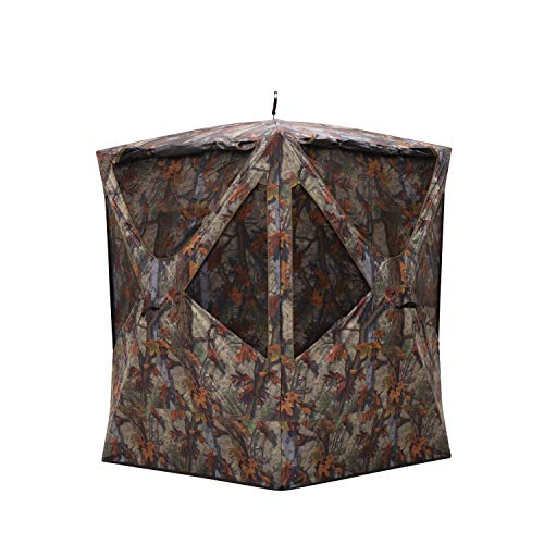 Barronett Prowler Tall Ground Hunting Blind, 2 Person Pop Up Portable, Woodland Camo