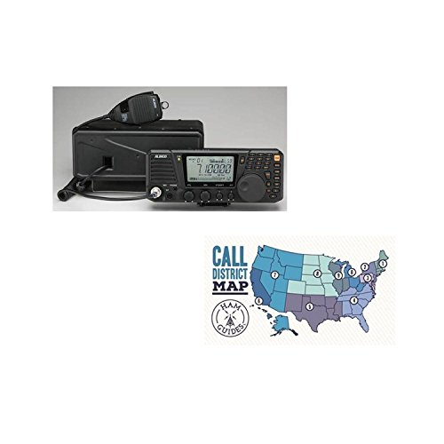 Alinco HF Base radio, all-mode, 100W and Ham Guides TM Pocket Reference Card Bundle by Alinco