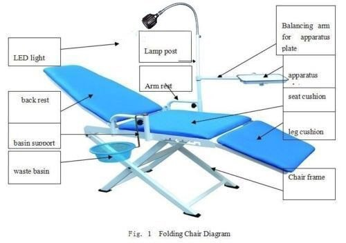 Hot Sale and New Arrival of Portable Chair Cold Light + Cuspidor Tray Equipment Mobile Unit
