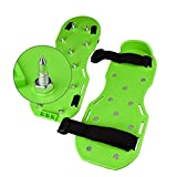 Multioutools Lawn Aerator Shoes Spike Heavy Duty Spiked Sandals Premium Aeration Sandals w/Plastic Buckles, Steel Spikes & 2 Adjustable Straps for Aerating Lawn & Yard Soil, Universal Size Fits All