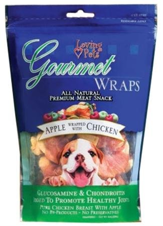 Loving Pets Gourmet Wraps Apple Wrapped with Chicken - Potato Loving Pets Sweet