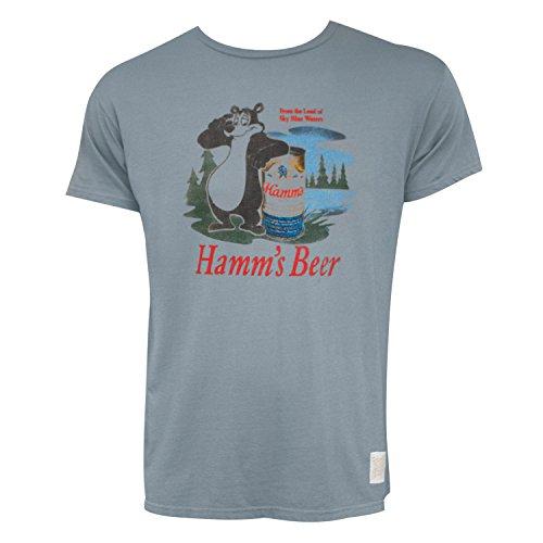 Hamms Bear - Hamm's Hamms Bear Logo Slate Grey Premium Retro Brand Tshirt X-Large