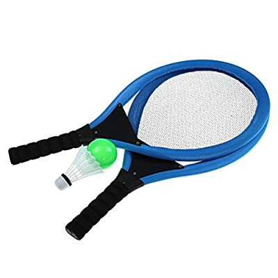 Eshylala Soft Tennis Rackets Set, Kids Soft Tennis Set Outdoor Garden Game Children Toy Soft Tennis and Badminton Set + Ocean Ball, Badminton (Blue,RED,Orange): Toys & Games