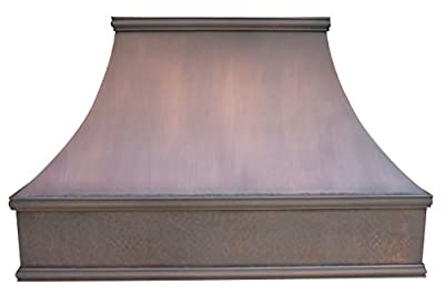 Range Hood, Copper Vent Hood Wall Mount 42x30 inch, High Effecient High CFM Stainless Steel Vent with Dishwasher-Friendly Stainless Steel Baffle Filter, Antique Copper Suites to Most American Homes