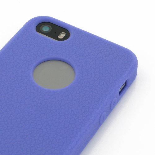 Apple iPhone 5s Luxury Silicone Case (Purple) by Pdair