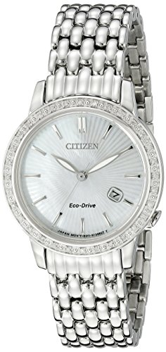 Citizen Eco-Drive Women's EW2280-58D Diamond Watch (Wrist Hamilton Diamond Watch)