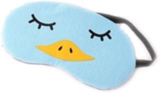 Topdo 1pcs Masques de Sommeil Masque des Yeux Mignonne Flanelle Douce Relaxation Opaque Masque Cache Yeux pour Dormir pour Voyage ou Lors des Siestes l'après-midi Bande Réglable 19x10cm