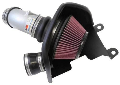 (K&N Typhoon Cold Air Intake Kit + Filter Silver 69-1019TS for 12-14 Honda Civic Si 2.4L L4 )
