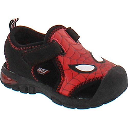 Marvel Spiderman Sps610 Boys' Infant-Toddler Sandal,Red,7