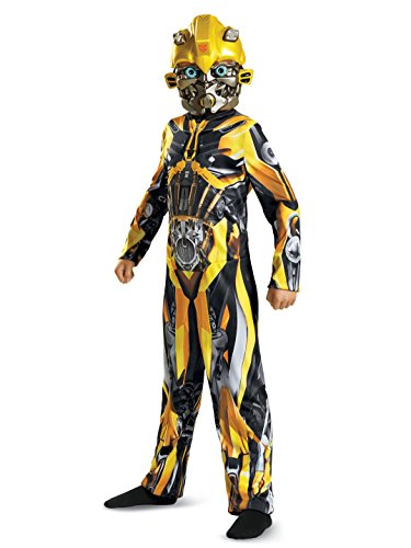 Disguise Bumblebee Movie Classic Costume, Yellow, Small (Transformers 4 Halloween Costumes)