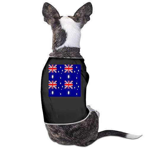 LNUO-2 Pet T-Shirts, Australia Flag Dog Cat Clothes Vest