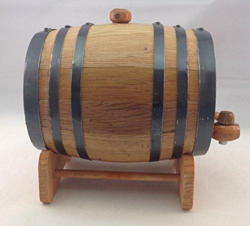 Premium Charred American Oak Aging Barrel - No Engraving (2 Liter) by Red Head Barrels (Image #1)