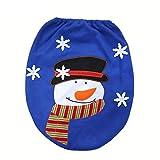 herocome Christmas Decoration Ornaments Snowman Lid Single Toilet Cover Home Bathroom Art