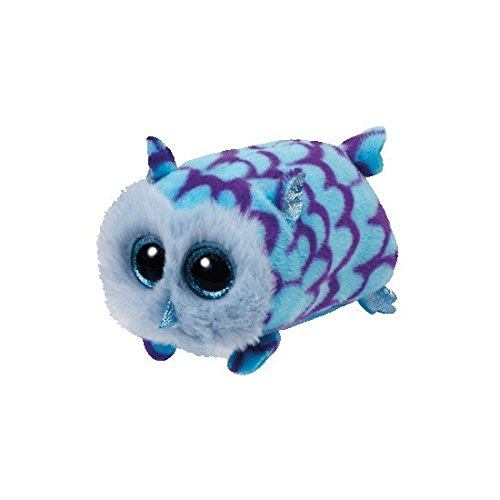 Mimi Blue Owl  - Teeny Tys 4 inch - Stuffed Animal by Ty (42144)