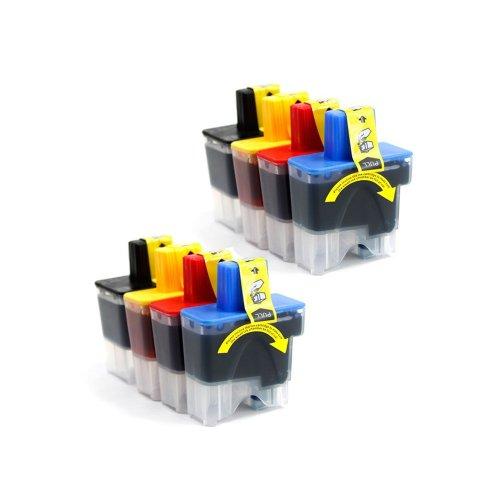 1840c Inkjet (Inkcool 8PK LC41 Ink Cartridge Compatible for Brother DCP-110C;DCP-120C;MFC-210C;MFC-3240C;MFC-3340CN;MFC-410CN;MFC-420CN;MFC-5440CN;MFC-5840CN;Intellifax 1840C;Intellifax 1940CN;Intellifax 2440C)