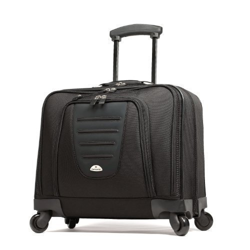 Laptop Briefcase Wheels (Samsonite 10392 Spinner Mobile Office Wheeled Briefcase (Black))