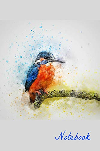 Notebook: Kingfisher Homework Book Notepad Notebook Composition and Journal Gratitude Diary por Retrosun Designs