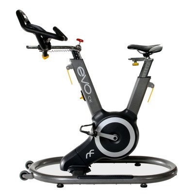 EVO CX Fitness Sway Frame Indoor Bike with Orb Gear and Distance, RPM, Calories Readout, Grey/Yellow