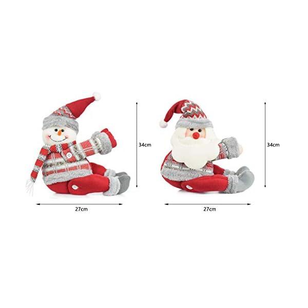 UMIPUBO Natale Sipario Fibbia in Velcro,Bambola di Natale,Fibbia Tenda Natalizia Babbo Natale Alce Pupazzo di Neve,Fissaggio Tende Fibbie,Decorazioni Natalizie, 7 spesavip