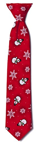 Red Snowman Clip-on Neck Tie Holiday Design for Baby to Young Men (Boys) by Extras So Sweet (Image #2)