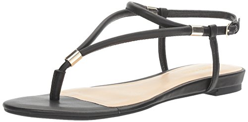 (Nine West Women's Rivers Synthetic Dress Sandal Black 8.5 M US)