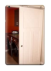 Lennie P. Dallas's Shop 9472354J65895748 Premium Sliding White Barn Door Hides Laundry Room From Kitchen Heavy-duty Protection Case For Ipad Mini 2