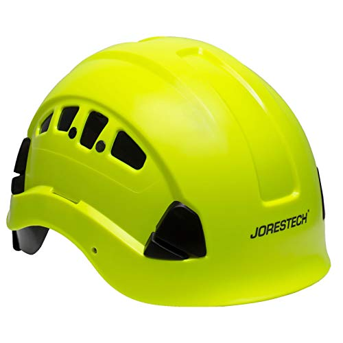 PPE By JORESTECH - ABS Work-At-Height and Rescue Hard Hat Slotted Ventilated Helmet w/Adjustable Ratchet 6-Point Suspension ANSI Z89.1-14 (Lime) by JORESTECH  (Image #6)