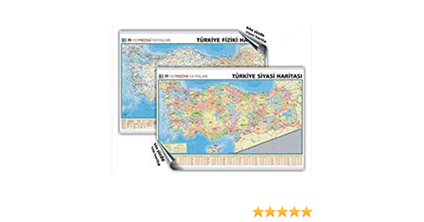 Turkiye Siyasi Ve Fiziki Duvar Haritasi 9789759137410 Books