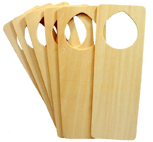 Creative Hobbies Wood Door Knob Hangers, Ready to Finish, Wholesale Pack of 6]()