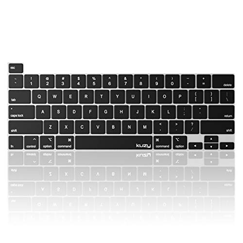 Kuzy MacBook Pro 16 inch Keyboard Cover 2019 Release A2141 with Touch Bar Silicone Key Board Skin Premium Thin Protector for Apple 16 inch MacBook Pro Accessories