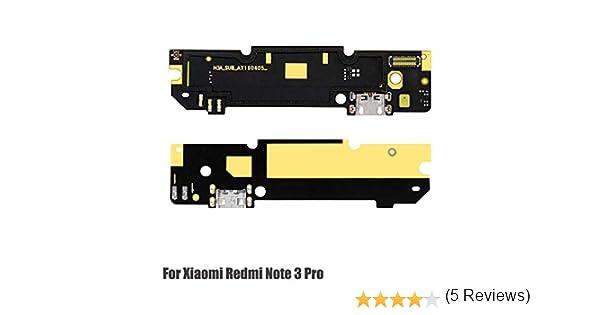Ociodual Placa de Carga Micro USB Flex 30 Pin Charging Dock Board Xiaomi Redmi Note 3 Pro